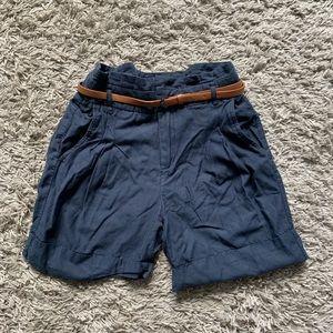 Zara belted shorts size xs